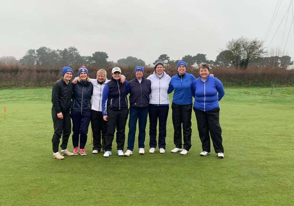 Suffolk Ladies 1st team halved their annual match with the men of Aldeburgh Golf Club